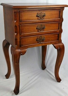 Pair Of New Solid Mahogany Chippendale Design Bedside Cabinets. Free Delivery