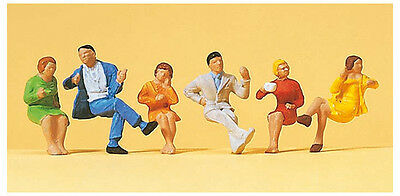 Figurines Ho 1/87 Preiser 14103 - Personnages Assis