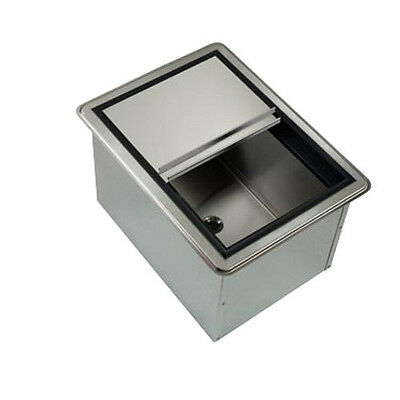 "Krowne Metal D278 20"" Drop-In ice Bin W/ 50 lb Ice Capacity"