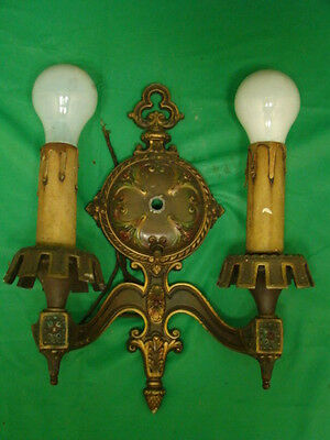 ANTIQUE Victorian Nouveau Deco Wall Electric Candle WALL light Sconce 12.25""
