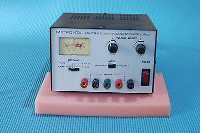 Micronta 22-121 Dual-Tracking DC Power Supply, 0-15 VDC, 1A/ channel