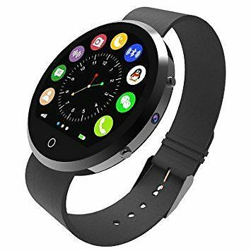 Bluetooth BT360 Round Smart Wrist Watch For iOS and Android Phones Silver
