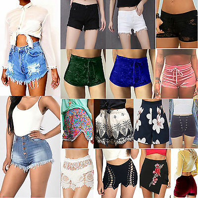 Summer Women Casual High Waisted Short Mini Jeans Ripped Jeans Shorts Hot Pants