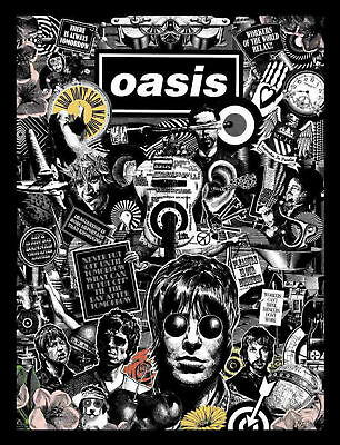 OASIS POSTER G - VARIOUS SIZES + A FREE SURPRISE A3 POSTER   Liam/Noel Gallagher