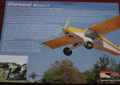 Sherwood Scout Aircraft Promotional Card