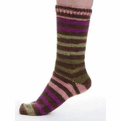 Viking of Norway ::Aurora #665: 6 ply/DK sock wool yarn 25% OFF! Brown-Fuchsia