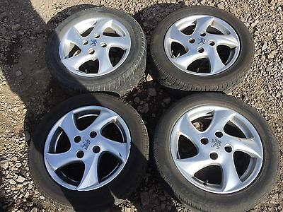 "Peugeot 206 15"" 5 spoke alloy wheels and tyres"