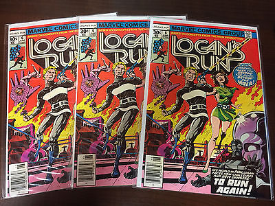 Logan's Run 6 Investor Lot of 3 - NM- or better; 1st Thanos Solo Story