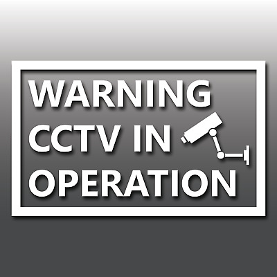 Warning CCTV in Operation Window Security Sign Shop/Home Vinyl Decal Sticker