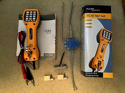 Fluke Networks TS30 Telephone Lineman's Test Set with Pro'sKit Adapters -  NEW
