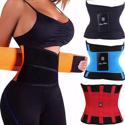 US Unisex Xtreme Power Belt Hot Slimming Thermo Body Shaper Waist Trainer Sport