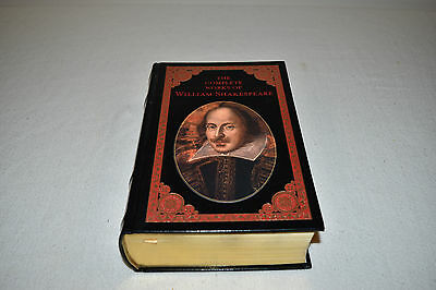 THE COMPLETE WORKS OF WILLIAM SHAKESPEARE LEATHER Easton like Barnes and Noble!