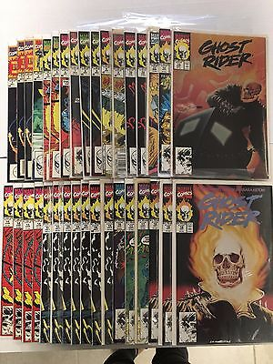 Run of 35: Ghost Rider # 1 - 18 Assorted Marvel Comics 1990-1991  VF #