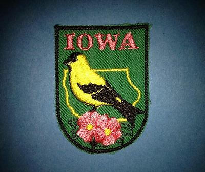 Vintage Iowa Collectable Souvenir Hat Jacket Backpack Hoodie Patch Crest D