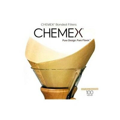 NEW Chemex 6 Cup Square Filters, 100 PK- Natural Coffee