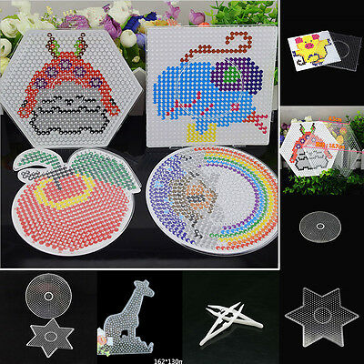 Clear Perler Hama Beads Peg Board Pegboard Template Funny DIY Creative Toy Craft