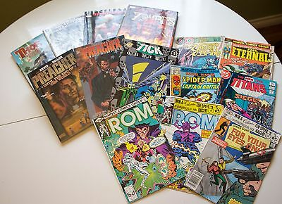 Comic and Graphic Novel Lot - Preacher, Spider Man, Batman More