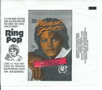 Michael Jackson OPC Trading Card Wax Wrapper Vintage O-Pee-Chee 1984