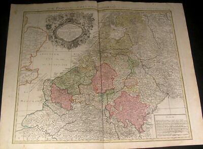 Netherlands Low Countries Belgium Holland Provinces 1784 Probst antique map