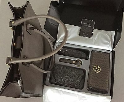 BNIB Emilie M. City Chic Essentials Box & Large Jolene Tote MINK Gray Taupe $300