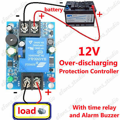 12V Battery Low Voltage Cut off Switch Controller Excessive Protection Module