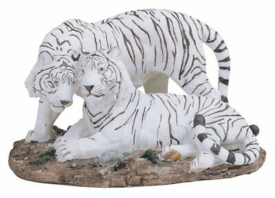 "10.25"" White Tiger Statue Figurine Safari Wildlife Wild Cat Animal Figure"