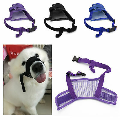 Dog Muzzle Breathable Adjustable 3 Sizes Stop Biting Barking Nipping Chewing