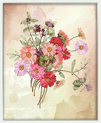 Ribbon Embroidery Kit Floral A bouquet of flowers Needlework Craft Kit XZ1010