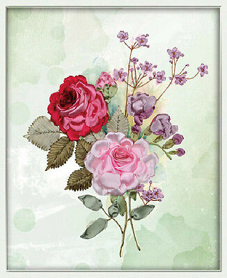 Ribbon Embroidery Kit Floral A bouquet of flowers Needlework Craft Kit XZ1012