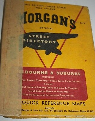Vintage Morgans Street Directorie 39th  Edition Hard cover Large scale Colour