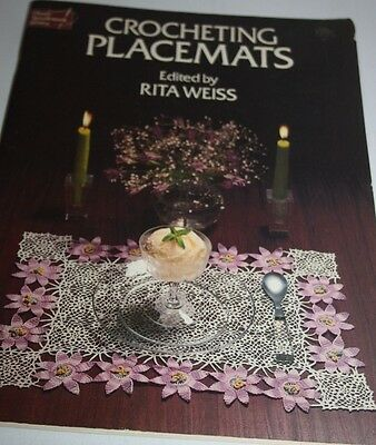 Crocheting Placemats by Rita Wiess Book Dover needlework series