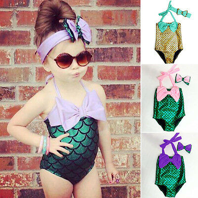 Kids Girls Swimming Bikini Costume Swimwear Swimsuit Beach Clothes Clothing Gift