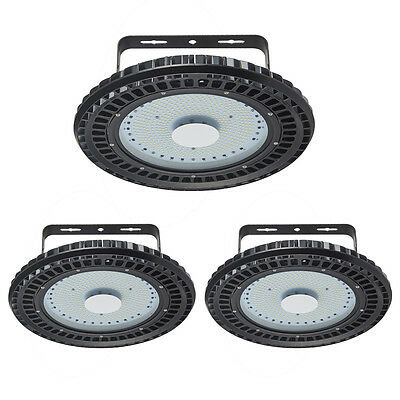"""3x 250W UFO LED High Bay Light Cool White Commercial Industrial Factory Lamp 16"""""""