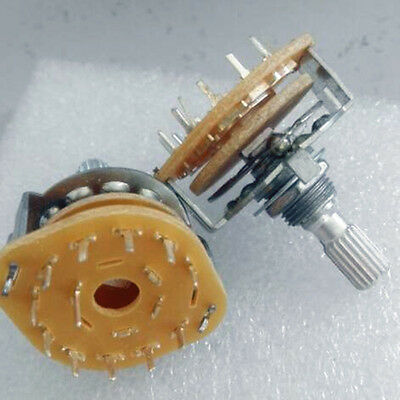 10x Rotary Switch Potentiometer 1 Pole 10 Position for Guitar effect/Audio 1P10T