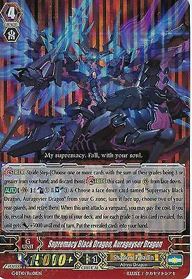 CARDFIGHT VANGUARD: SUPREMACY BLACK DRAGON, AURAGEYSER DRAGON - G-BT10/Re01EN