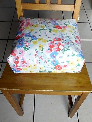 Kids Child Chair Booster Cushion. Zipped Refillable.Ties.Cath Kidston daisies.