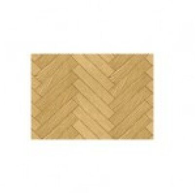 Dolls House Parquet Wood Effect Floor Wallpaper 1:16 Scale Model