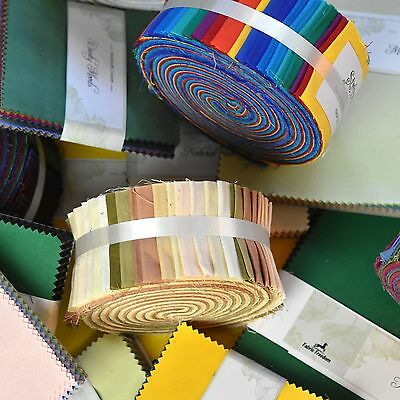 """100% Cotton 40 Jelly Roll Strips Patchwork Craft Quilting Fabric 2.5"""" x 44"""""""