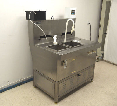 "Terra Universal Stainless Wet Processing Station SS Dual-Sink 48""W x 36""D x 56""H"