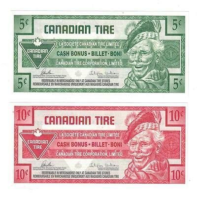 CANADIAN TIRE MONEY NOTE 5 Cent / 10 Cent