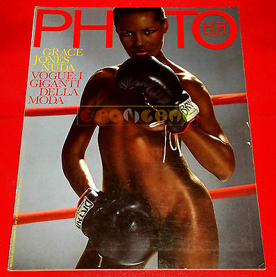 PHOTO HI FI ITALIANA N 85 1982 Grace Jones Nuda, Vogue i Giganti della Moda