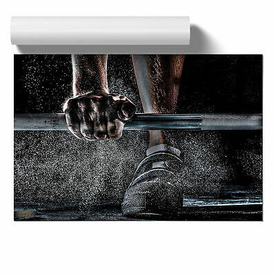 Poster Print Wall Art Body Building Fitness Weights Landscape Modern Sport Décor