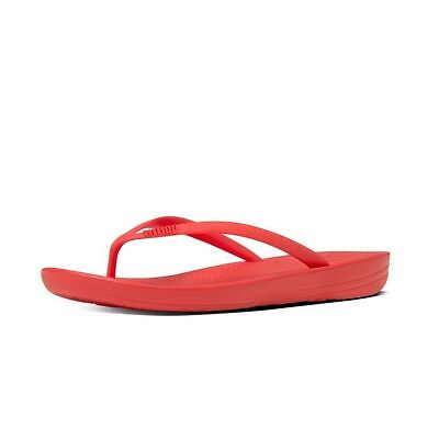 35f073ba6 Women FitFlop Iqushion Ergonomic Flip Flop E54-210 Flame Red 100% Original  New