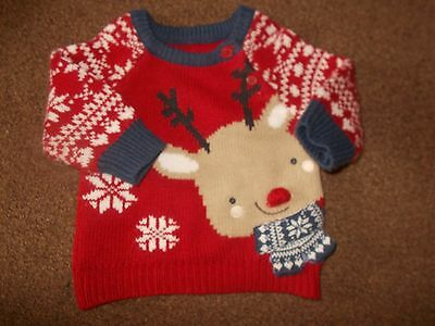 Baby boys christmas jumper 0-3 months very good condition