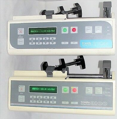 Graseby 3100 Automatic Syringe Driver Infusion Pump Fluid Administration