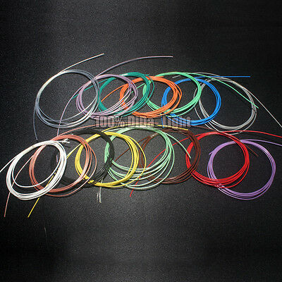 0.68mm New Copper Silver Plated Wire Cable (11 Color) lot