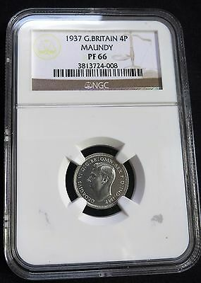 1937 Great Britain 4 Pence Maundy Silver NGC PF 66 High Grade