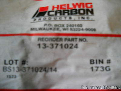 """New Helwig Carbon Electric Motor Brush, .375"""" x 1.000"""" x 1.25"""", 13-371024"""