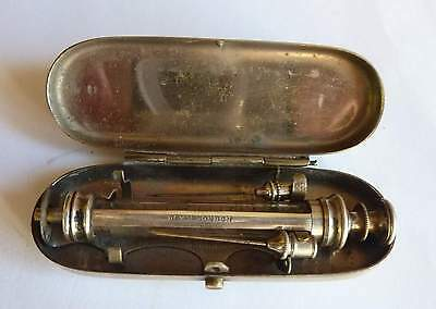 Down London Antique Hypodermic Syringe, Museum Quality in Original Metal Case
