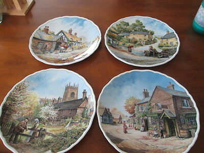 Set Of 4 Royal Doulton Village Life By Anthony Forster Collectors Plates